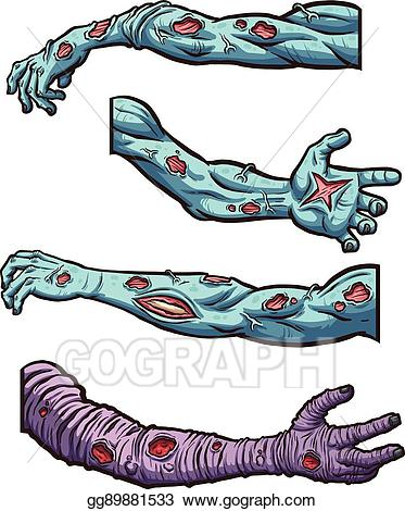 vector free Vector arms illustration gg. Zombie arm clipart.
