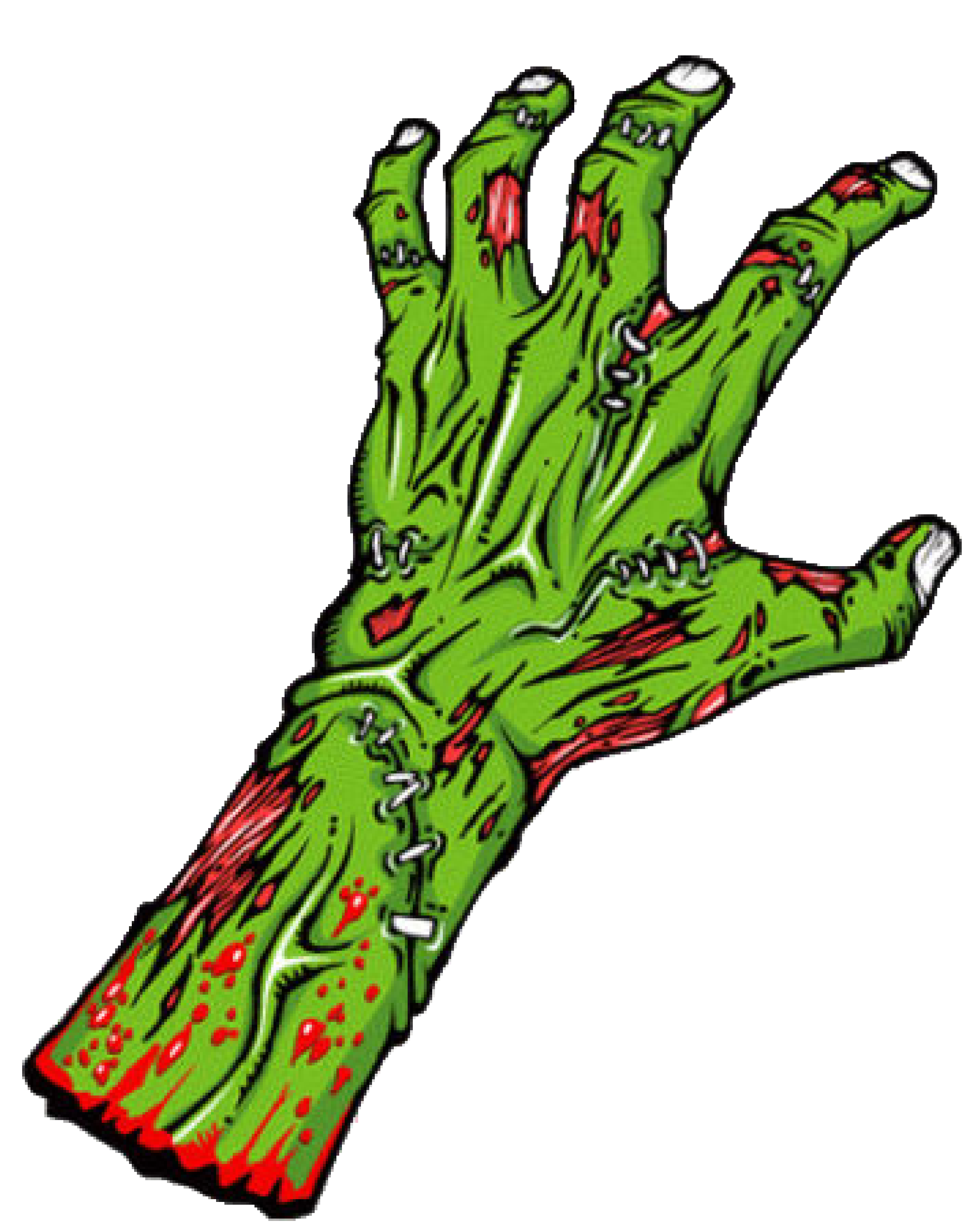 clip art download Black and white hand. Zombie arm clipart.