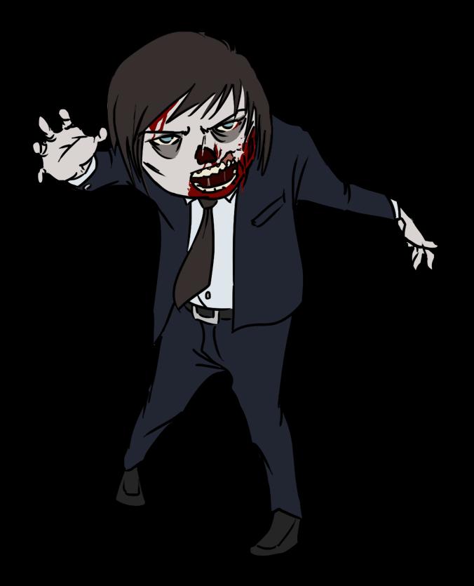 banner free stock Halloween kid . Zombie clipart