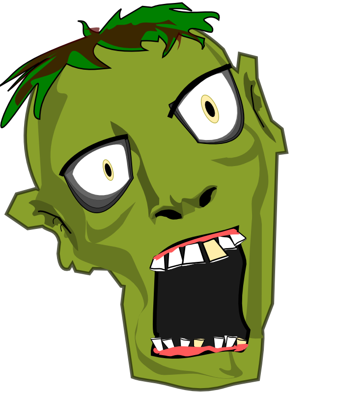 jpg black and white library Free Zombie Clipart at GetDrawings