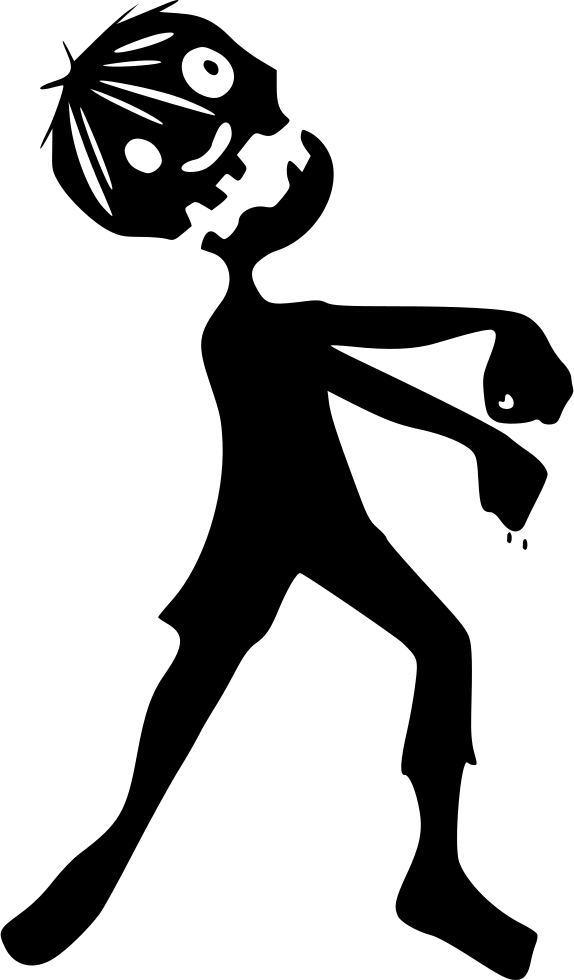 picture transparent download Bite vector silhouette. Zombie walking dead following