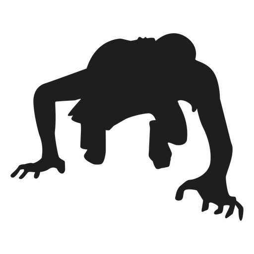 clip art freeuse stock Zombie crawling silhouette