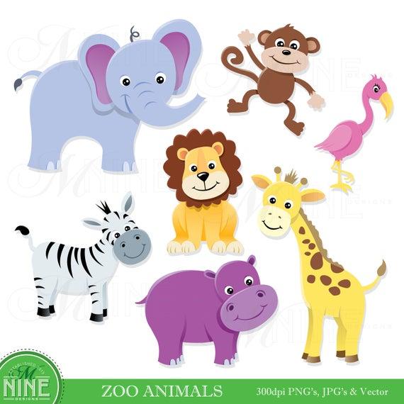 clipart transparent Zoo animal clipart. Clip art animals digital
