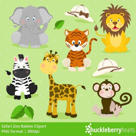 picture free stock Clipart zoo animals. Safari elephant lion tiger.
