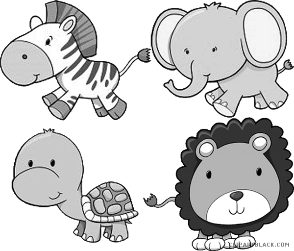 image freeuse download Zoo animal clipart black and white. Animals page of clipartblack