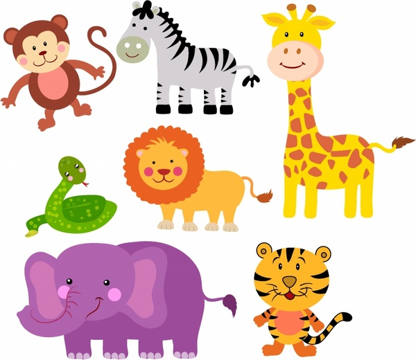 jpg freeuse library Station . Zoo animals clipart