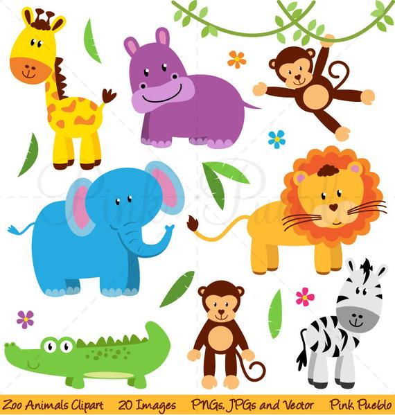 jpg transparent download Zoo animals clipart. Animal clip art safari