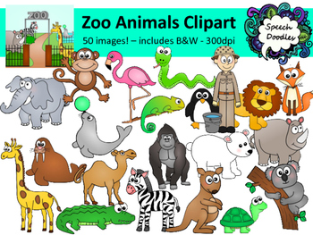 image library stock Bundle images personal or. Zoo animals clipart.
