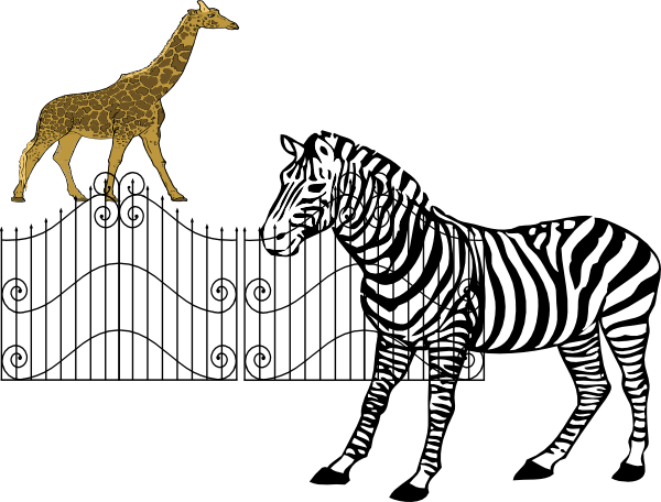 svg black and white download Zoo cage clipart. Animals clip art at
