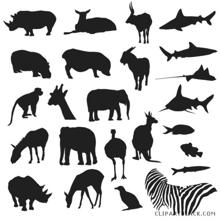 jpg download Page of clipartblack com. Zoo animals clipart black and white.