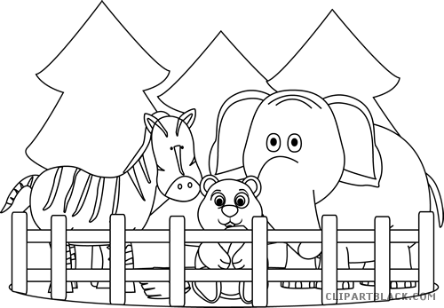 clip art transparent library Zoo Animals Clipart