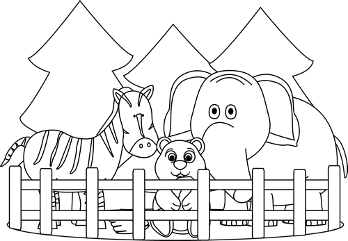 image library download Photos best drawing sketch. Zoo black and white clipart