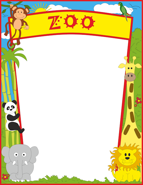 clipart free Zoo border clipart. Pin by muse printables