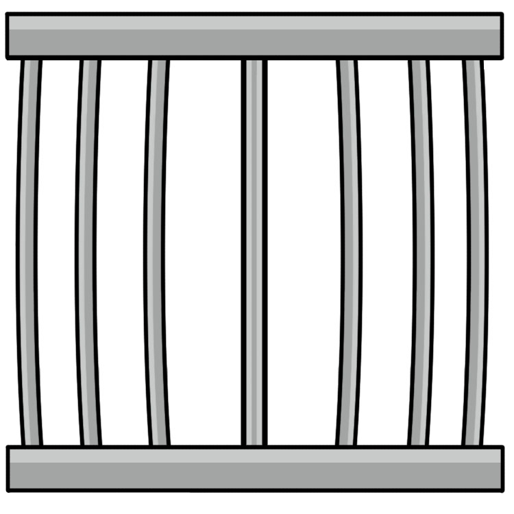 clip art freeuse library Transparent free for . Zoo cage clipart