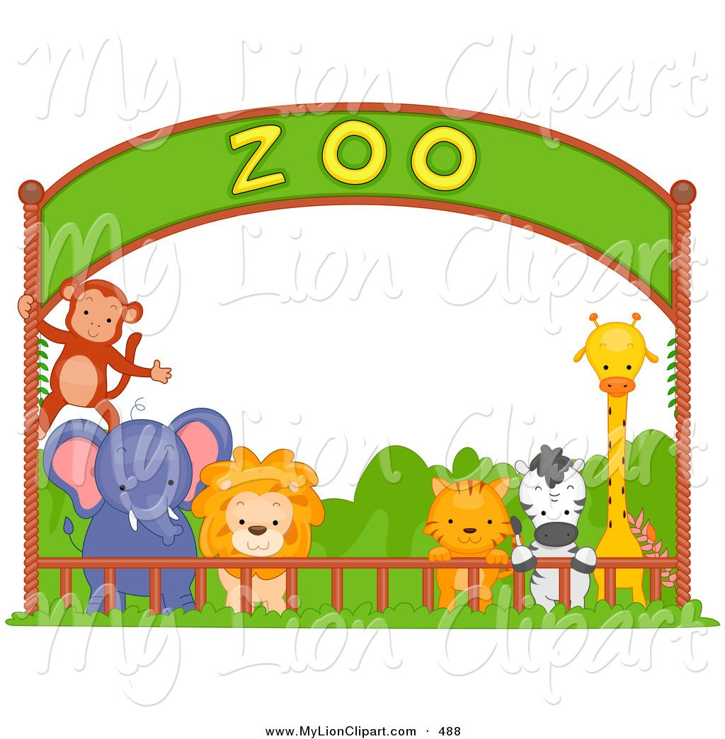 image royalty free download Zoo clipart free. Animals large images