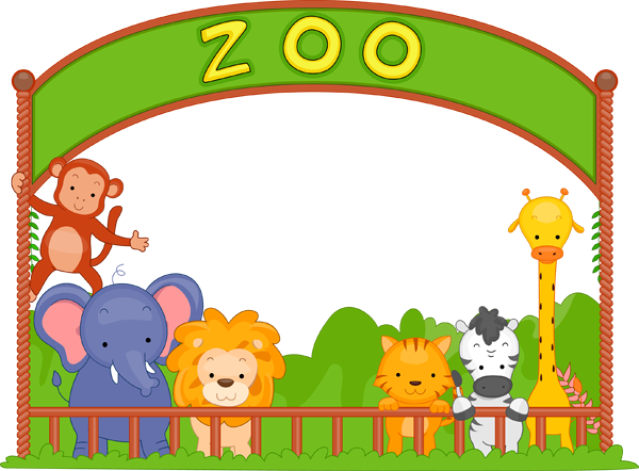 vector free download Wonderful clip art of animals that live in a zoo