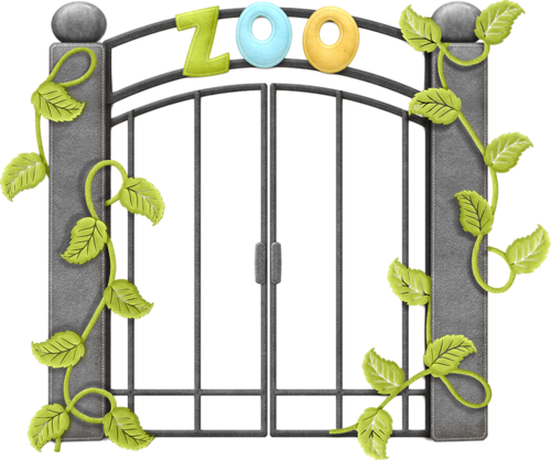 picture stock Zoo entrance clipart.  collection of gate