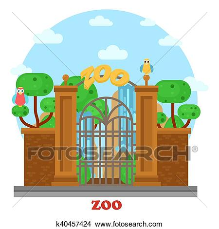 clipart freeuse download Zoo entrance clipart. X free clip art.