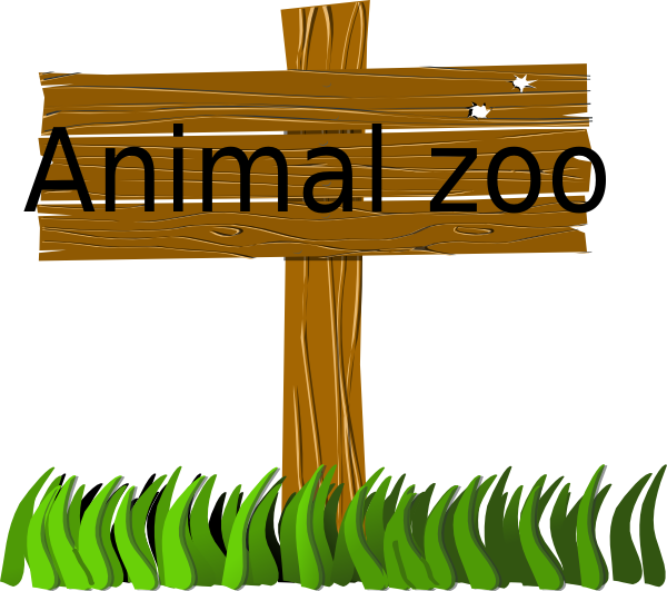 svg library download Clipart zoo. Animal sign clip art.